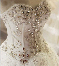 Bling Brides Crystal Wedding Dress Ball Dress With Sweetheart neck, Lace... - $499.99