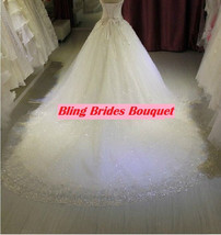 Bling Brides Crystal Wedding Dress Ball Dress With Sweetheart neck, Lace up back image 5