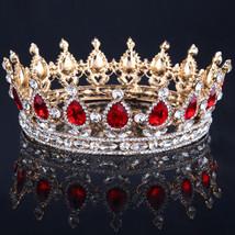 Bling Bridal Peacock Crystal Tiara Wedding Crown Bridal Queen king crown - $49.99