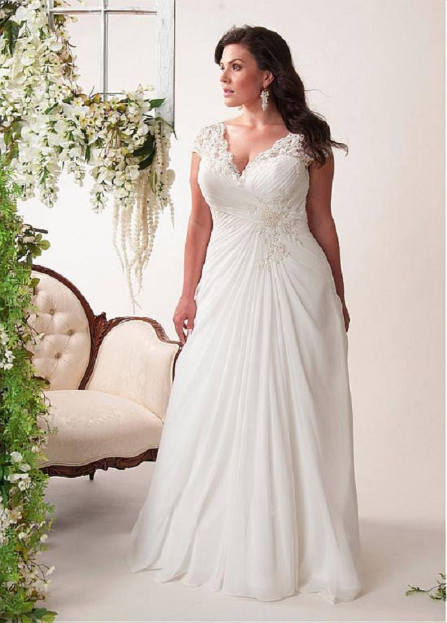 bling brides elegant wedding dress chiffon plus size