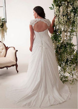 Bling Brides Elegant Wedding Dress, Chiffon Plus Size Beach Bridal Gown image 2