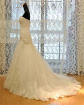 Lace  Mermaid Wedding Dress,Corset  Lace up back wedding Gown image 3
