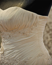 Lace  Mermaid Wedding Dress,Corset  Lace up back wedding Gown image 4