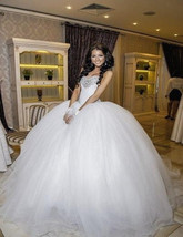Bling Brides Tulle Ball Gown Wedding Dress With Sparkly Rhinestone Crystals image 3