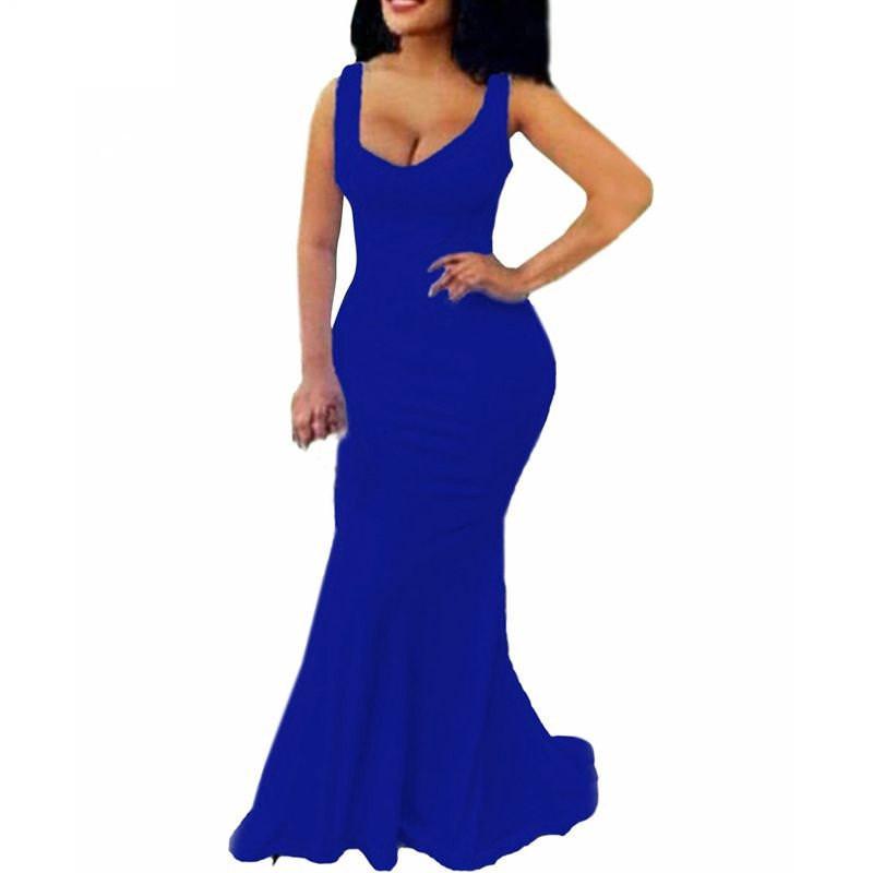 Mermaid Body Con Maxi dress for Party club Shoot