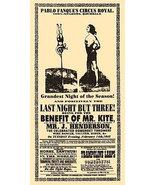 Being For The Benefit of Mr. Kite Poster 11x17 Beatles Sgt. Pepper's John Lennon - $19.99