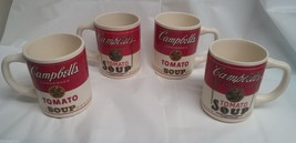 Lot of Four Vintage Campbell Tomato Soup Coffee... - $22.99