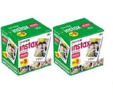 Fujifilm Instax Mini Instant Film, 10 Sheets of 5 Pack x 2 (100 Sheets) - $79.99