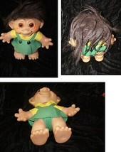 Troll Vintage Doll Brown hair 8 inches denmark - $54.99
