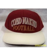 COED NAKED FOOTBALL Hat / Cap by Coed Sportswear New no Button on Top - $10.73