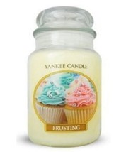 Yankee Candle Vanilla Frosting 22oz Large Jar Home Décor Candle - £18.00 GBP