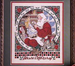 CHRISTMAS ORNAMENTS CROSS STITCH MADONNA SANTA'S WORKSHOP CRAFTS #1 CELE... - $7.98