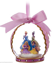 Disney Rapunzel Snow White Cinderella Tiana Glass Ornament Pink Theme Pa... - $49.95