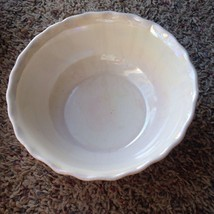 Vtg White Bowl Iridescent California Pottery Ce... - $11.87