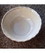 Vtg White Bowl Iridescent California Pottery Ceramic Pottery Calif USA N... - $11.87