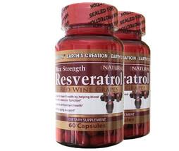Earth's Creation Resveratrol 500mg - Anti-aging, Antioxidants-- 2 Pack!! - $34.95
