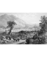 ITALY Como - 1864 Fine Quality Print Engraving - $49.50