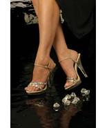 Johnathan Kayne Austria Taupe Nude Pageant Bridal Swarovski High Heel Shoe - €105,04 EUR