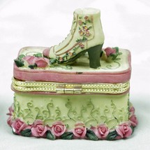 Trinket  Box Victorian Shoe - Roses  - $8.16