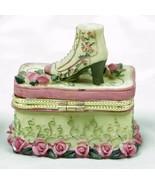 Trinket  Box Victorian Shoe - Roses  - £5.93 GBP
