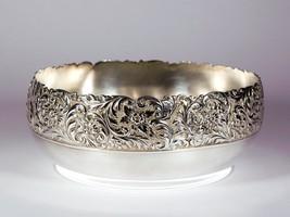 Vintage Repousse Meriden Silverplate Bowl - Art... - $42.08