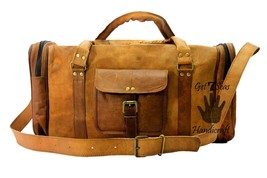 Weekender bag men's leather travel luggage overnight bag women sport men... - $100.94