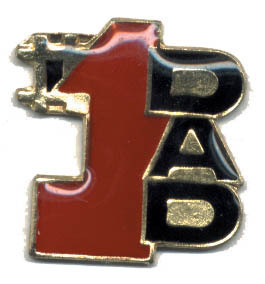 12 Pins - #1 DAD , father hat lapel pin #1969