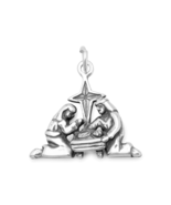 Solid 925 Sterling Silver Christmas Nativity Charm / Pendant - $34.00