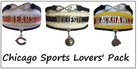 CHICAGO Sports Bracelet 3 Pack Gift Special - Bears, White Sox AND Blackhawks! - $25.99