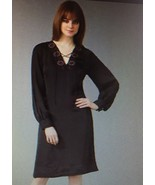 DKNY NAVY EMBROIDERED SILK DRESS - US SMALL - $85.00