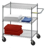 Linen Cart 24x36x42, 3 Wire Shelves Model Number UC2436