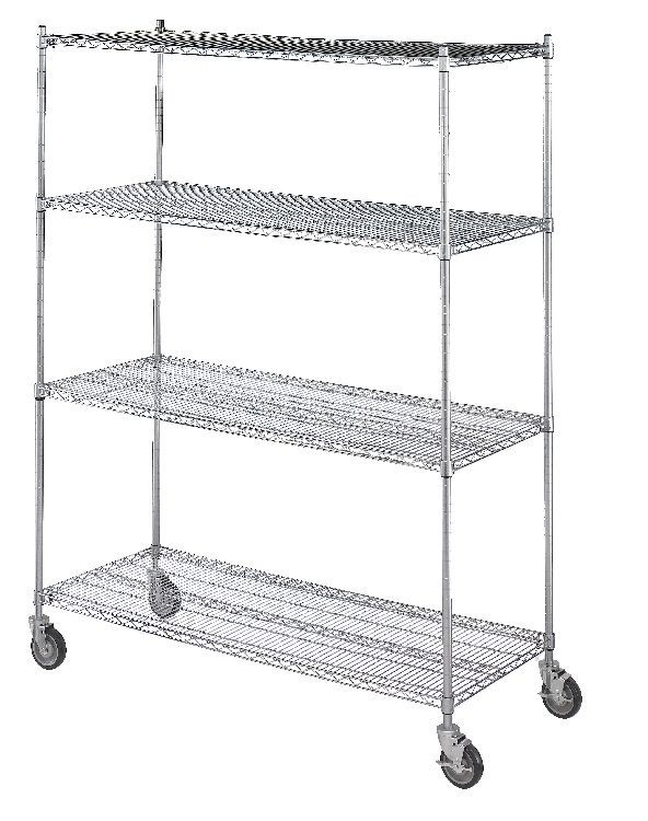 Linen Cart 24x48x72, 4 Wire Shelves Model Number LC244872