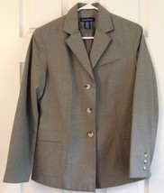Evan Picone Suit Jacket Blazer Size 8 Long Sleeve Button Faux Pockets Sa... - $22.27