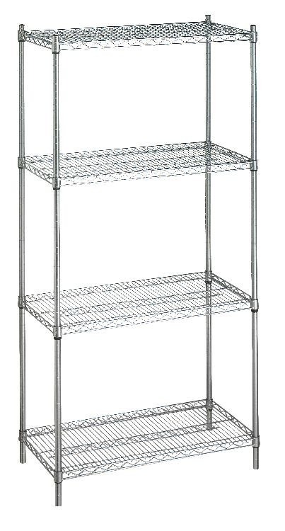 Shelving Unit 24x48x72 (w/o Casters), 4 Wire Shelves Model Number SU244872