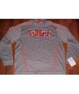 Holloway NCAA ACC Clemson Tigers Gray Print Orange Boom Hoodie Sample L New - $49.49