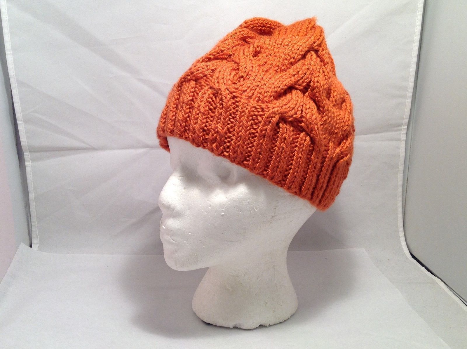 European Hand-Knit Plush Wool Beanie/Cap Hat
