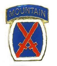 12 Pins - 10TH INFANTRY DIVISION , tenth 10 pin 658 - $9.00