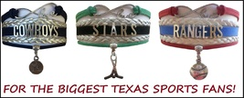 TEXAS Sports Bracelet 3 Pack Gift Special - Cowboys, Stars AND Rangers! - $25.99