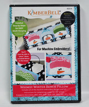 Kimberbell Whimsy Winter Bench Pillow KD164 - $13.75
