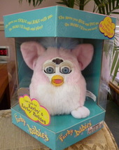 Original ADORABLE 1999 Baby Pink Furby Baby Blue Eyes NRFB Model #70-940 NEW - $59.99