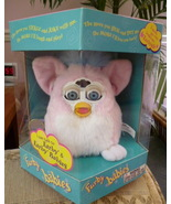 Original ADORABLE 1999 Baby Pink Furby Baby Blue Eyes NRFB Model #70-940... - $59.99