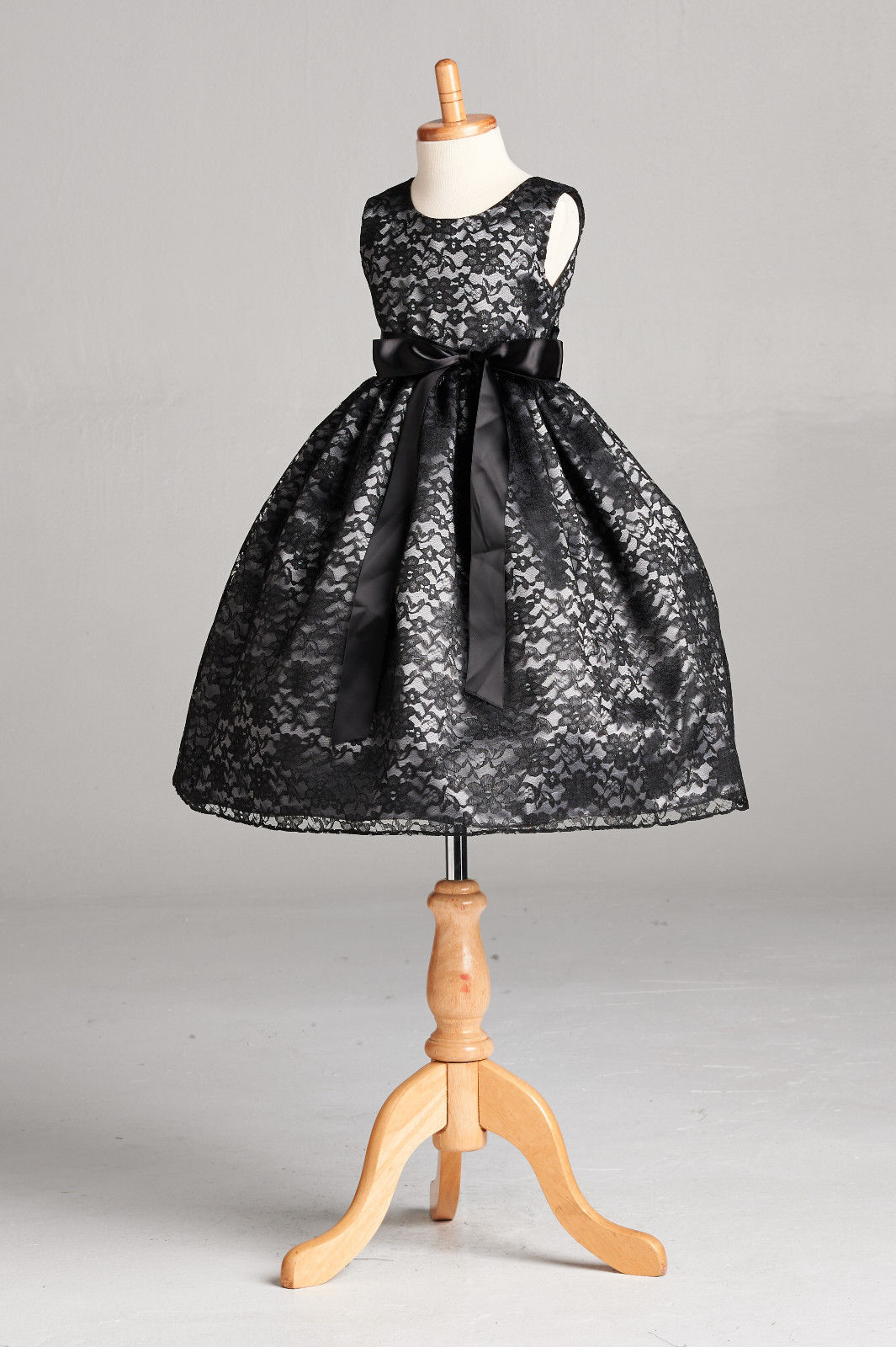 Flower Girl Dress Lace Charcoal Grey Gray Holiday Formal