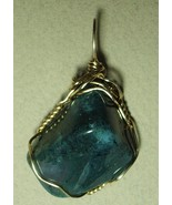Jemel Moss Agate Pendant Wire Wrapped 14/20 Gold Filled   - $36.00