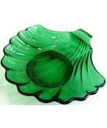 Vintage Forest Green Shell Dish Anchor Hocking ... - $9.89