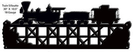 Train Silhouette Laser Cut Out Of Metal 10.5×30 - $27.72