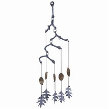 Cute Acorn and  Acanthus Leaf Brass Wind Chime 24''H. - $44.55