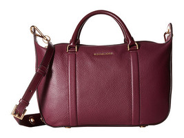 Michael Kors Raven Plum Leather Zip Closure Dou... - $429.99