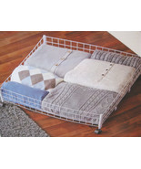 Underbed Organizer with Castors, SHOES Wire Container Case for Closet or... - $22.00