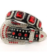 Western Cowgirl Buckle Big Bling Red Rhinestone... - $49.99