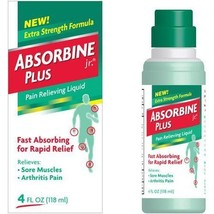 Absorbine Plus Jr Fast Absorbing Pain Relieving Liquid 4-4 oz - $38.07